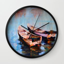 Two boats Wall Clock