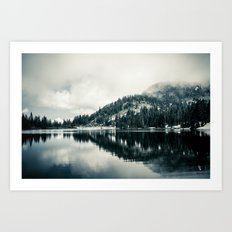 Lake at Mount Rainier Art Print