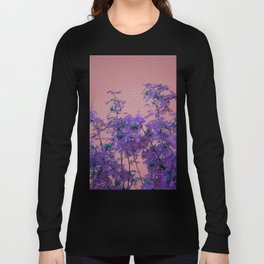Rowan tree and blue polka dots Long Sleeve T-shirt