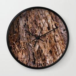 Dated tree stump Wall Clock
