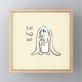 Just Hug Me Framed Mini Art Print
