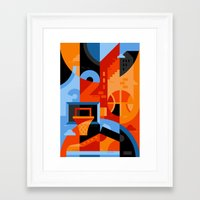 basketball Framed Art Prints featuring Basketball by koivo