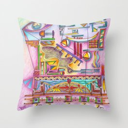 7 thoughts in color Throw Pillow
