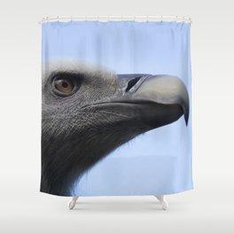 Headshot of young Griffon vulture, Gyps fulvus II Shower Curtain