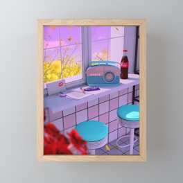 Radio Love Framed Mini Art Print