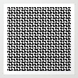 Friendly Houndstooth Pattern, black and white Kunstdrucke