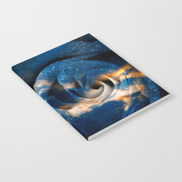 Phoenix Fury Rose Notebook