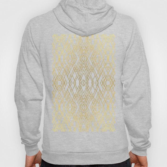 Art Deco Grey Gold Hoody