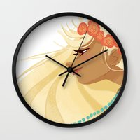 hippie Wall Clocks featuring Hippie Hippie. by ca-chat
