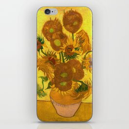 Vincent Van Gogh Fifteen Sunflowers In A Vase iPhone Skin