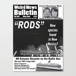 Weird News Bulletin Issue 1994 Canvas Print