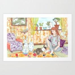 Dutch and Red Art Print