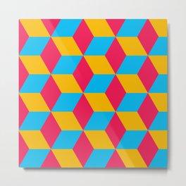 Tessellation Cube Metal Print