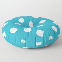 Blue Moissy Gem Pattern Floor Pillow