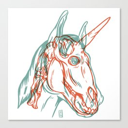 Unicorn Xray Canvas Print