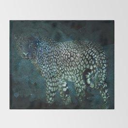 Midnight Jaguar Throw Blanket