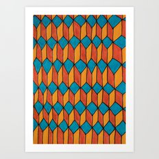 Pattern color Art Print