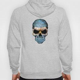 Dark Skull with Flag of Argentina Hoody