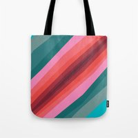 cracked Tote Bags featuring Cracked  by K I R A   S E I L E R