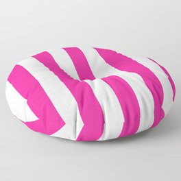 Philippine pink - solid color - white vertical lines pattern Floor Pillow