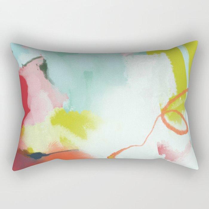landscape in spring Rectangular Pillow