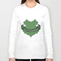 slytherin Long Sleeve T-shirts featuring Slytherin by konchoo