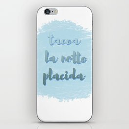 Tacea La Notte Placida | Il Trovatore | Verdi iPhone Skin