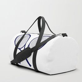 Crossed Rackets Silhouette Duffle Bag