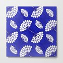 African Floral Motif on Royal Blue by wellingtonboot