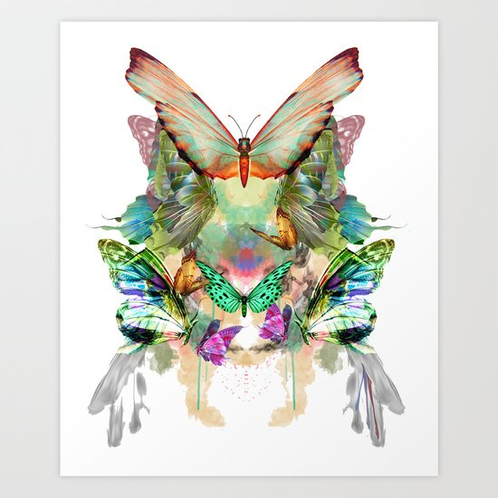 The fate of the butterfly Art Print