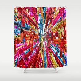 weapons emotion sculpture Shower Curtain