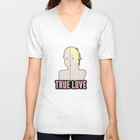 britney spears V-neck T-shirts featuring Britney Spears: True Love by Christopher Holden Mathews