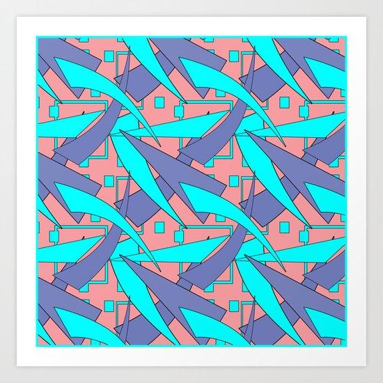 Creative abstract pattern . Geometric shapes . Art Print