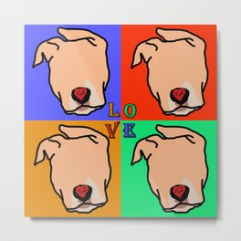 Color me in pits (love is a pit bull No.5) Metal Print