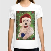 westie T-shirts featuring A Very Westie Christmas by Heidi Clifton