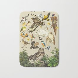 Bird poster Bath Mat