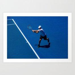 Tennis player Art Print