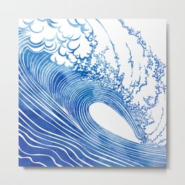 Blue Wave Metal Print