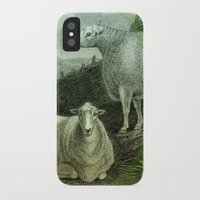 ass iPhone & iPod Cases featuring Sheep's Ass by Connie Goldman