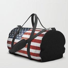 American Wooden Flag Duffle Bag