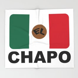 El Chapo Mexican flag Throw Blanket