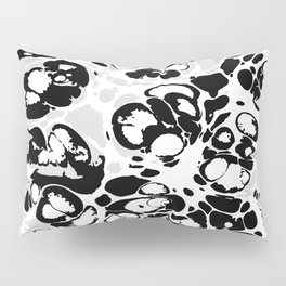 Black white gray ink paint spilled mess splashes platter effect Pillow Sham