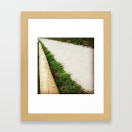 To the Point. Framed Art Print
