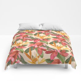Mixed Paradise Tropicals in Vintage Comforters