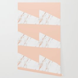 Pink Quartz and White Marble Rose Gold Wallpaper