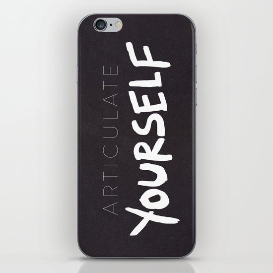 Articulate Yourself iPhone & iPod Skin