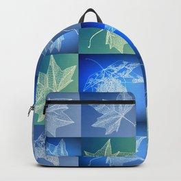 blue leaf drawings Backpack