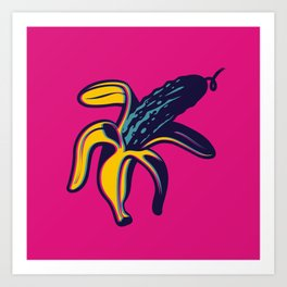 Banana Cucumber Art Print