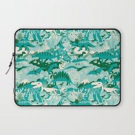 Dino world | blue Laptop Sleeve