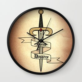 Speak Daggers Wall Clock